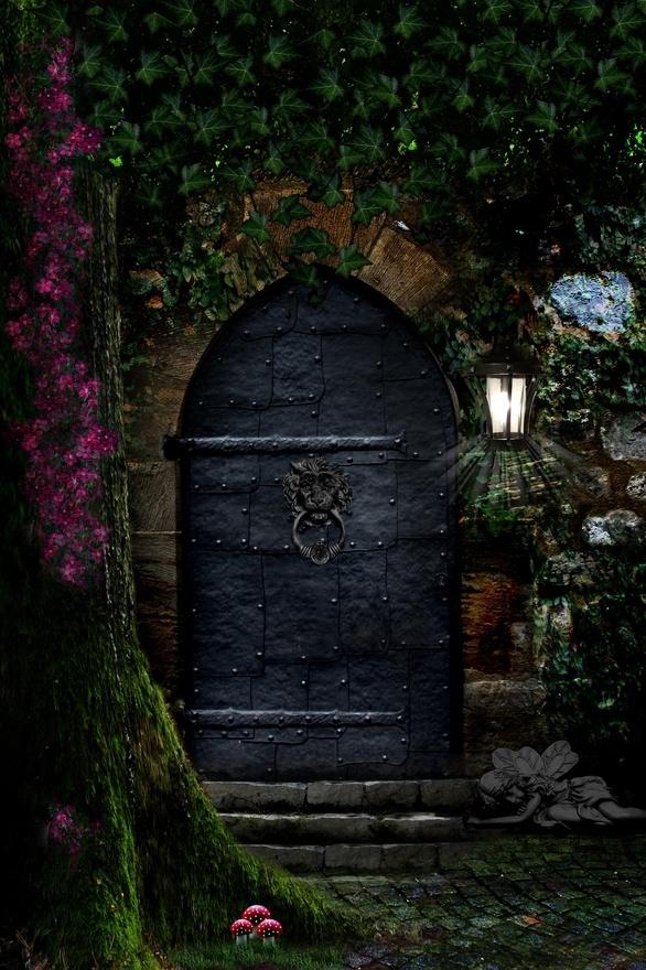 Magical door portals pinterest for Fairy front door