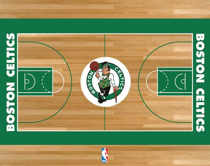 Boston Celtics Basketball Court | Sports | Pinterest