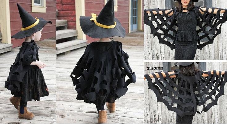 fabriquer une cape sans couture  halloween  pinterest