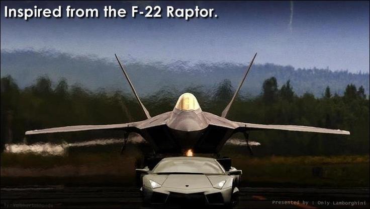 F22 Raptor And Lamborghini Reventon Cars Pinterest