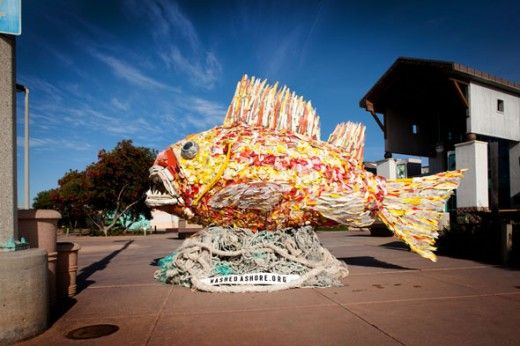 Washed Ashore: Plastics, Sea Life and Art exhibit at the Chula Vista Nature Center.