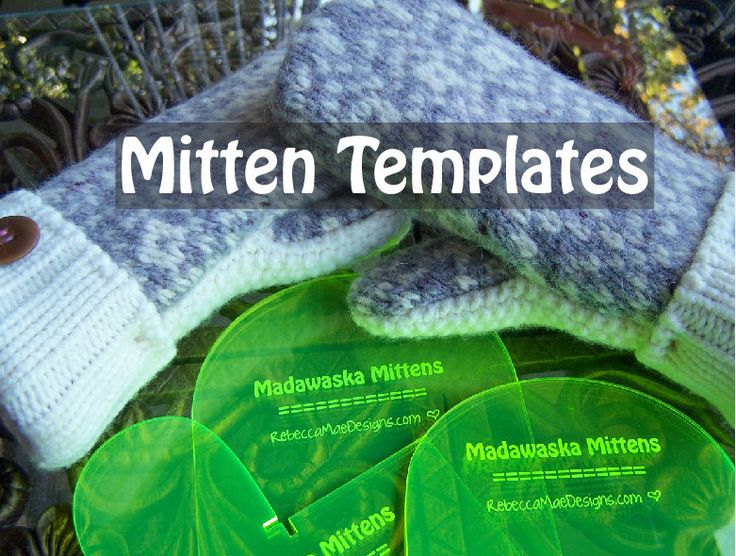 ... PATTERN TEMPLATES how to make mittens by RebeccaMaeDesigns, $28.00