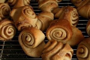 Finnish cinnamon and cardamom buns