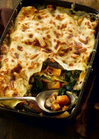 St Helen's Farm Roast Butternut Squash, #Spinach and Mushroom #Lasagne