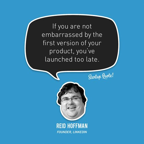 Quote from Linkedin founder Reis Hoffman