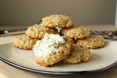 Savoury oatmeal cookies - I'd skip the goats cheese but I might try ...
