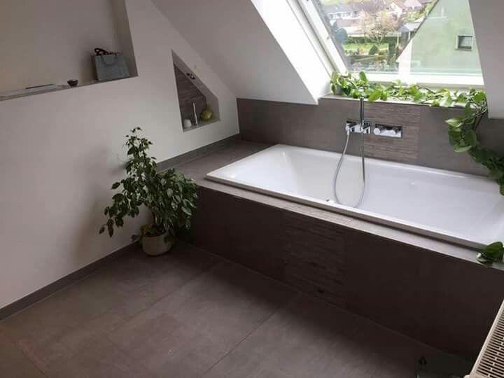Badewanne unter Dachschräge Tolle Fliesen dazu! koupelny - moderne badewannen wohlfuhlerlebnis