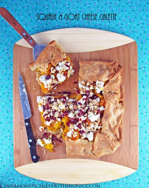 Butternut Squash and Goat Cheese Galette | Healthy Cooking | Pinterest