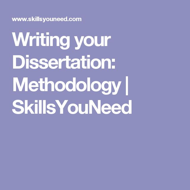 Dissertation Methodology - The WritePass Journal