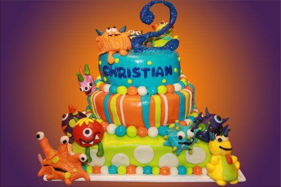 Monster cake by Delightful Bites #birthday #boy #etsy