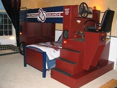 Super Cool Beds : Super cool! Zamboni bunk bed  If I had a million dollars  Pinterest