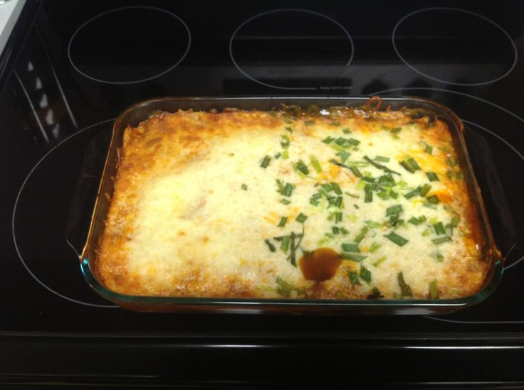 Low Carb Chicken Enchilada Casserole: Add some enchilada sauce to the ...