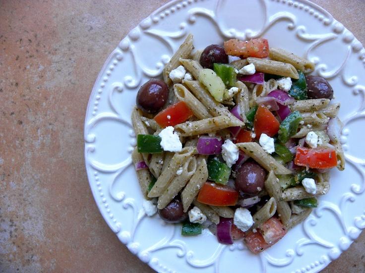 Greek pasta salad @Skyros Designs   Test Kitchen   Pinterest