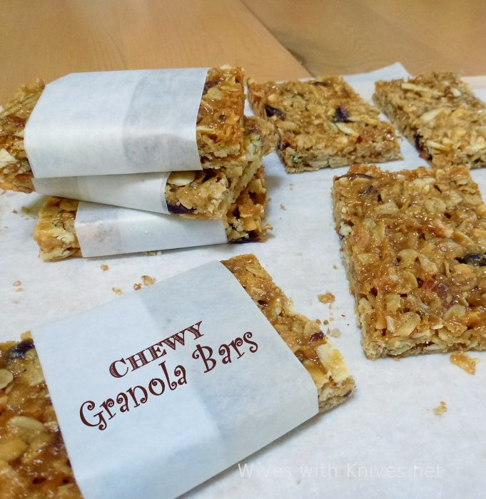 Chewy Granola Bars | Wives with Knives http://www.wiveswithknives.net ...