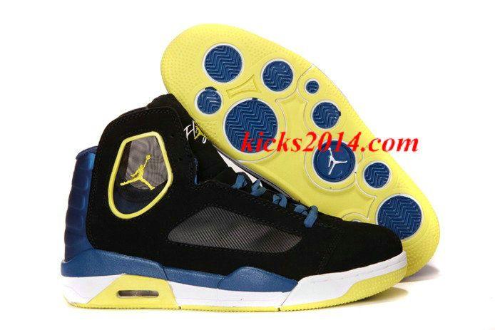 Nike Air Jordan Flight Luminary Mens Shoes Black Yellow Womens Shoes