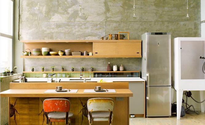 Before and After Loft Kitchen #remodel #renovation
