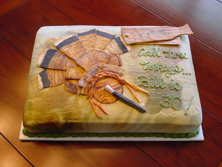 Turkey Hunting Cake Decorations : Pin by Cindy Lee Carter on Cakes Pinterest