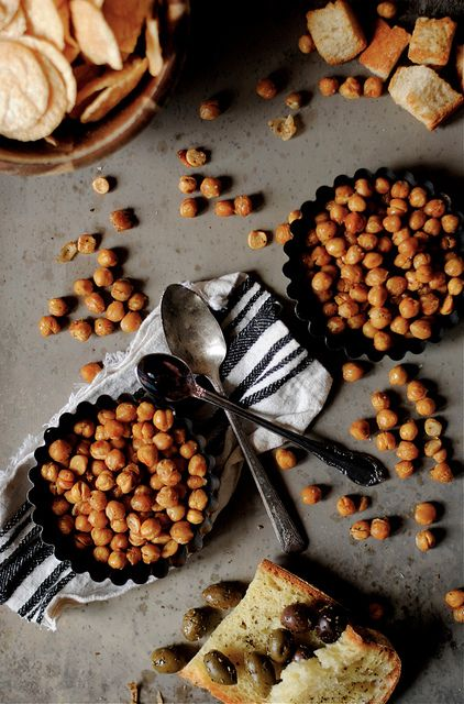 Spicy Oven-Roasted Chickpeas by How To: Simplify, via Flickr