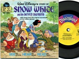"""when you hear tinker bell's chimes, turn the page"" We had a big variety of the records and the cassette tapes with the books- hours of fun!"