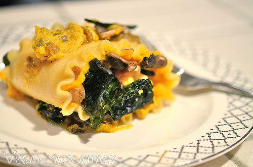 Butternut Squash & Mushroom Lasagna Rolls | Vegan Yack Attack Notes ...