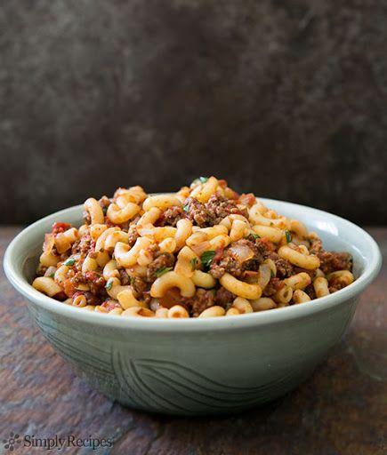 Hamburger and Macaroni Recipe on Yummly | Pasta | Pinterest