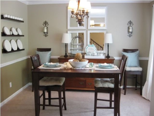 two tone dining room w chair rail homespace pinterest