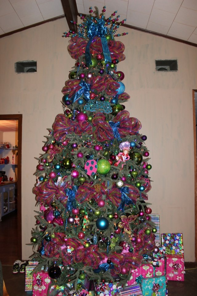 Whimsical Candy Color Multi Christmas Decorating Ideas