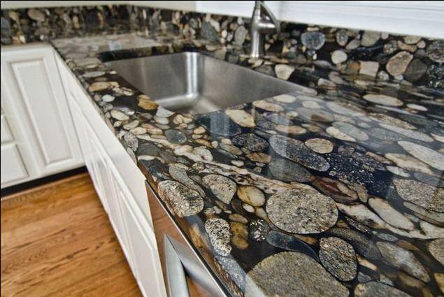 Encimera de cocina de piedras encimeras pinterest - Encimera piedra ...
