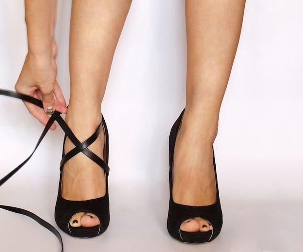 Как сделать что бы туфли не слетали 266