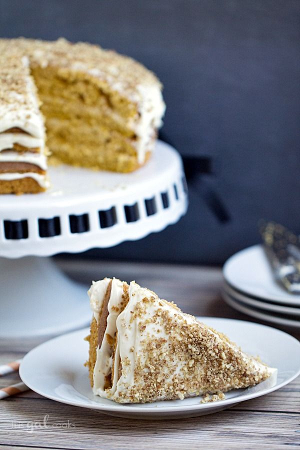 Pumpkin Spice Cake with Maple Bourbon Frosting | Recipe
