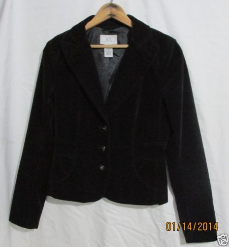 Ladies Black Velvet Evening Jacket