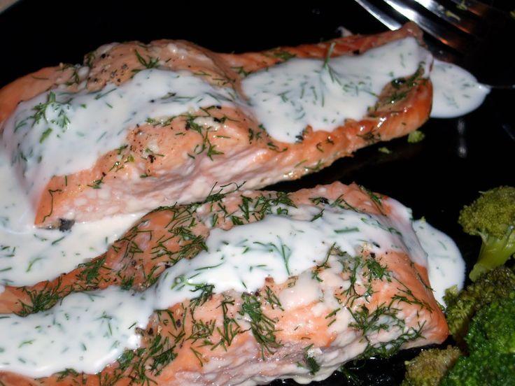 Baked Salmon with Dill Mustard Sauce.   Paleo   Pinterest