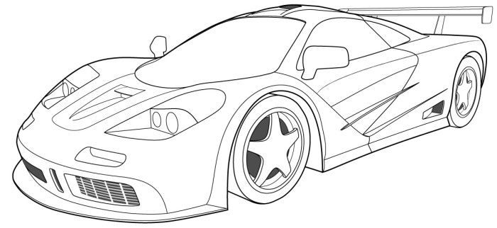 Coloring Bugatti Veyron Side Coloring