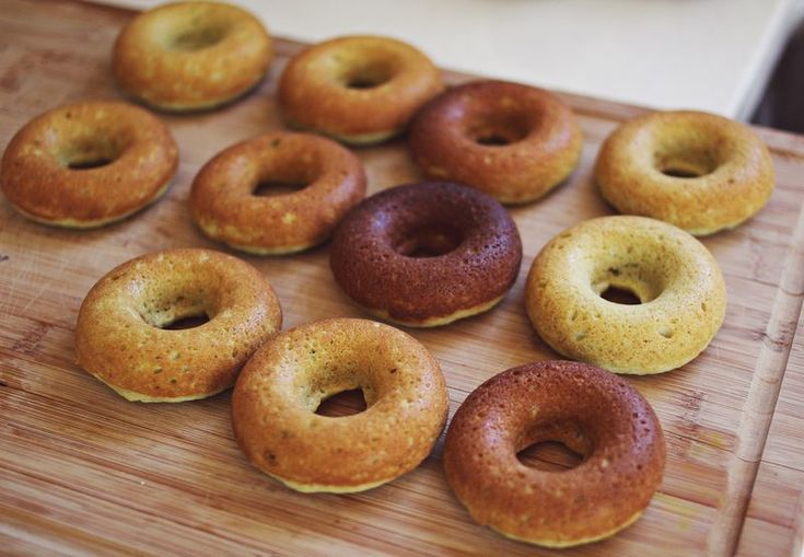 Baked donuts. Yes, this means they are healthy. Also a recipe for ...