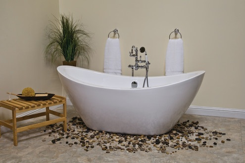 Stand alone air tub for the home pinterest for Cast iron tub vs fiberglass
