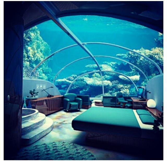 Underwater bedroom  Home ideas  Pinterest