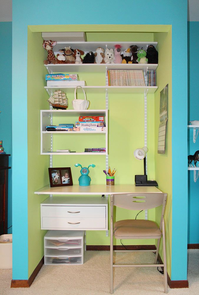 Desk In Closet Noah Pinterest