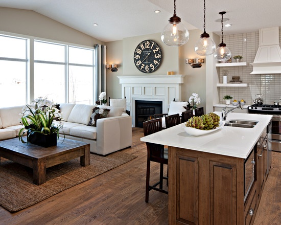 Traditional Spaces Kitchen Sitting Area Design Pictures
