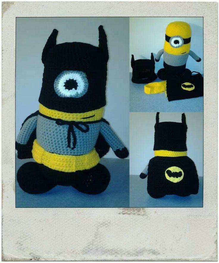 Batman minion crochet and knit Pinterest