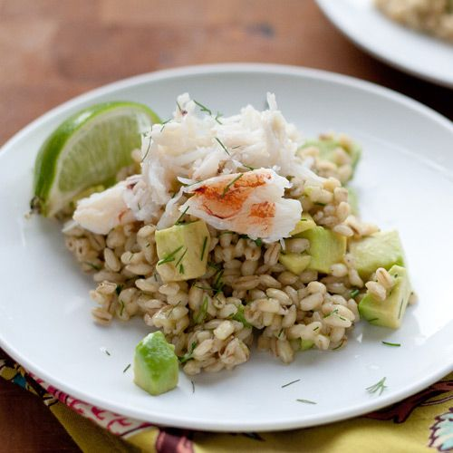 ... risotto a new look with creamy avocado and tender crab: http://www