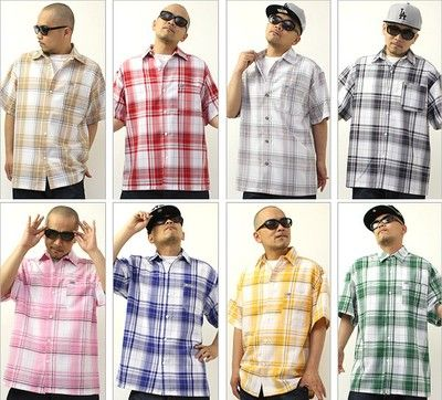 CalTop Brand Short-Sleeve Plaid Shirts