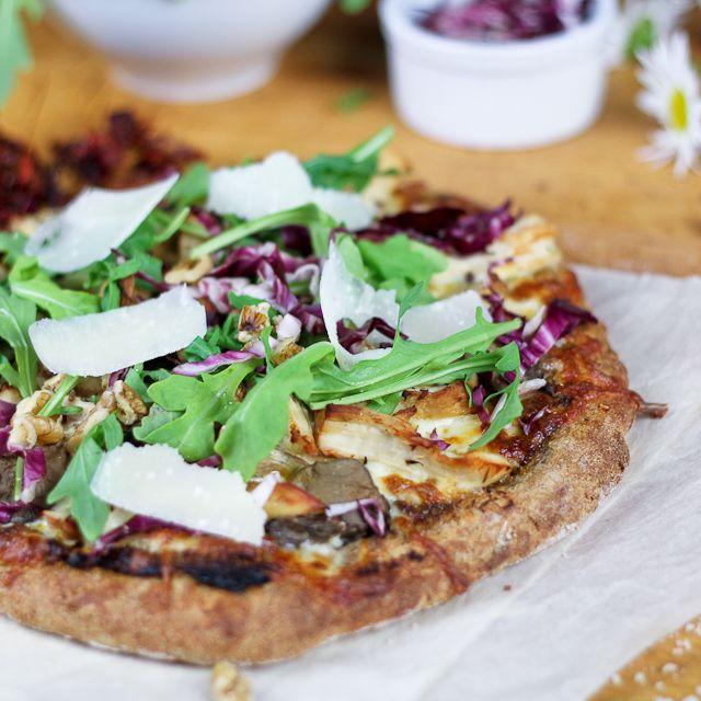 Chicken, Arugula and Parmesan Pizza, on Sun Dried Tomato Pesto | Reci ...
