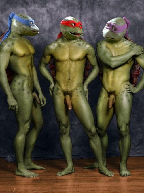 ninja turtles naked men body paint les homme viril pinterest