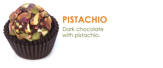 Organic chocolate brigadeiros by My Brigadeiro Pistachio and dark ...