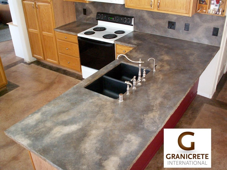 Concrete counter tops for the home pinterest for Concrete bar top ideas