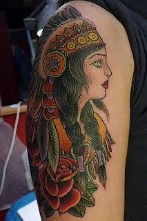 Indian princess tattoo.. stunning