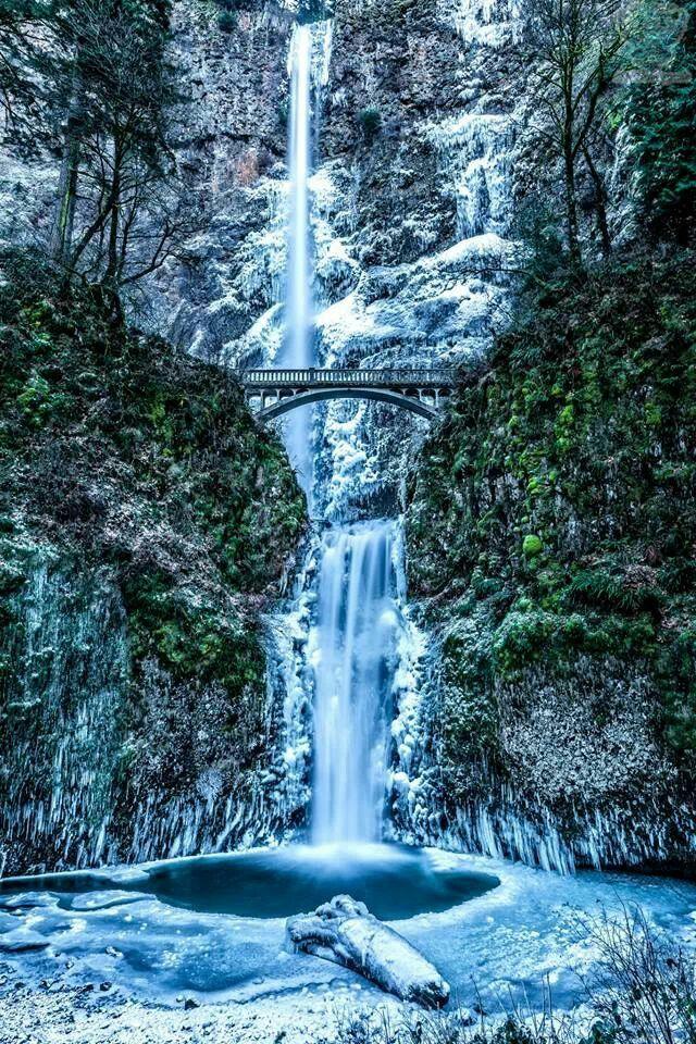 Multnomah Falls, Oregon Dec 7, 2013 You don't see this often - frozen!