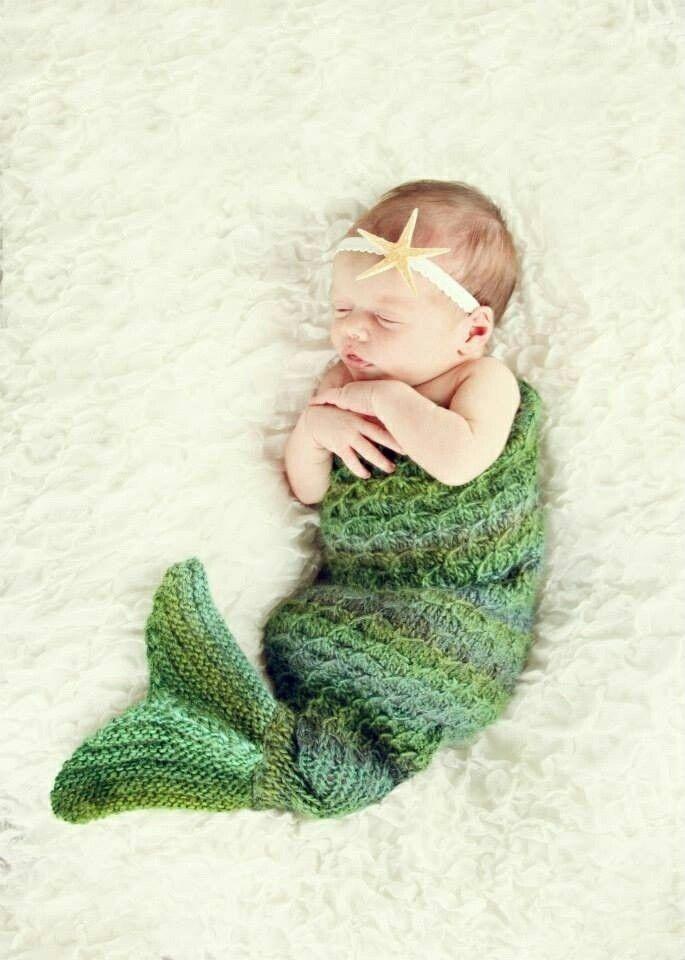 Knitting Pattern Baby Mermaid : Knit mermaid baby dress! Love it   Pinterest