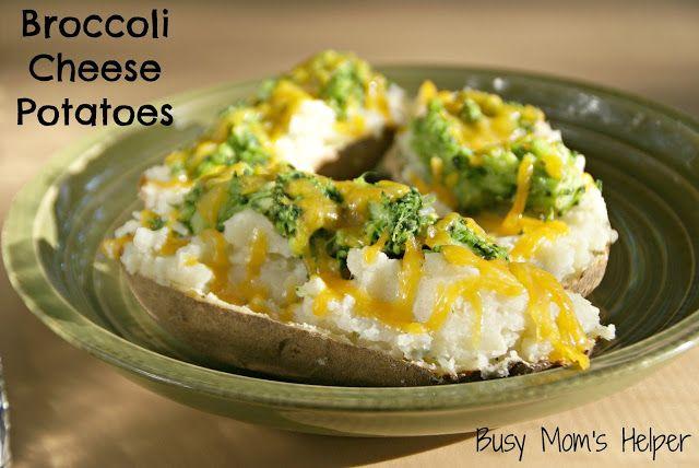 Broccoli Cheese Potatoes | fooooood | Pinterest