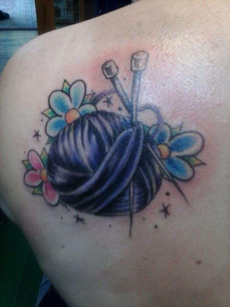 Knitting Related Tattoos : Knitting tattoo knit fast die warm pinterest